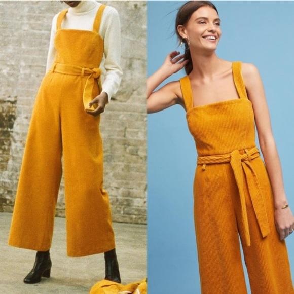 Mara Hoffman Pants - mara hoffman // mustard idola corduroy jumpsuit
